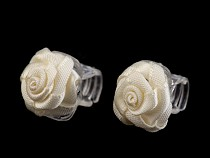Hair Claw 10x13-15 mm with Rose