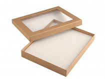 Jewellery Box with transparent lid 16x19.5 cm padded