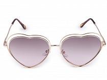 Dámské sluneční brýle zrcadlové srdce