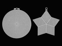 Kanevas / Gitter Kunststoff Stickring, Stern