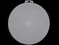 Plastová kanava / mriežka vyšívacia kruh, hviezda, štvorec