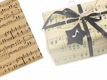 Decorative / Wrapping Paper Music Notes 50x75 cm