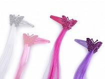 Haarspangen mit Haarsträhnen