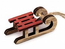 Decorațiuni din lemn - săniuțe