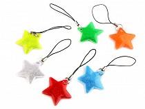 Fényvisszaverő akasztó / cipzárhúzó csillag