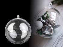 Clear Plastic Fillable Ball Ornament Ø10 cm
