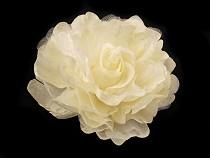 Fabric Rose Brooch Ø8 cm