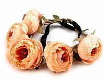 Haarband elastisch mit Blumen