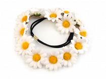 Boho Floral Daisy Elastic Headband