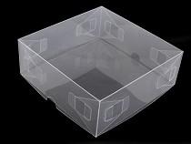 Transparente Kunststoffbox mit Deckel