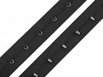Bandă cu copci pentru confecții textile / corset, lățime 25 mm