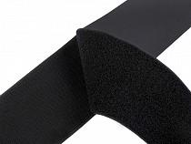 Bandă arici, complet (puf + scai), negru, 10 cm
