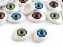 Oval Plastic Doll Eyes Glue on 14x19 mm