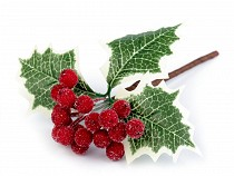 Frosted Fruit Berry Holly Artificial Flower Decor