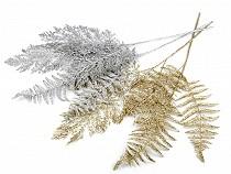 Vánoční větvička / kapradí s glitry