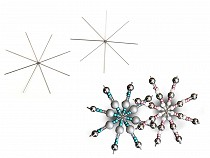 Wire Star / Snowflake for Beading DIY Ø9 cm