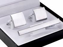 Cufflinks and Tie Clip Gift Set