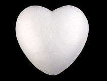 Szív Ø15 cm polisztirol