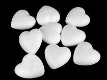Polisztirol szív 3x3,4 cm