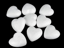 Srdce 3x3,4 cm polystyren