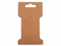 Karta papierowa natural 6,6x11,5 cm z wycięciem