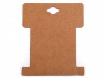 Karta papierowa natural 8,6x10,2 cm z wycięciem