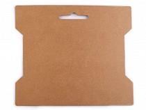 Karta papierowa natural 14x16,3 cm z wycięciem