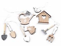 Spring Hanging Decorations - Garden Tools