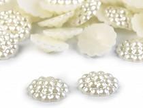 Perlenverzierung zum Aufkleben / Cabochon aus Perlen Ø13 mm