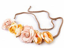 Čelenka do vlasů s květy - zavazovací