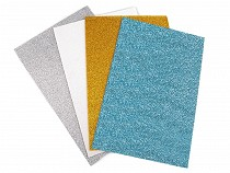 Craft Foam Sheets Moosgummi with Glitter 20x30 cm