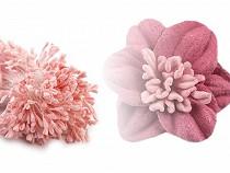 Kvetinové piestiky matné ploché 6 cm veľký zväzok