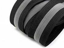 Fermoar ascuns cu bandă reflectorizantă, metraj,  lățime spirală 5 mm