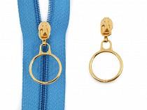 Schieber / Zipper mit Ring zu Spirale Reißverschlüssen 3 mm