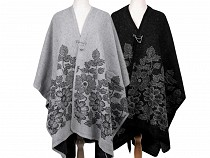 Poncho with Brooch