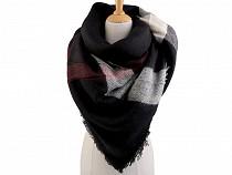 Velký teplý šátek / pléd 135x135 cm