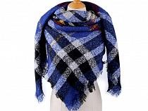 Velký teplý šátek / pléd 130x130 cm