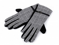 Rękawiczki damskie dzianina kratka