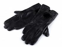 Rękawiczki damskie skórzane z futerkiem
