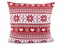 Kissenbezug Weihnachten Schneeflocke 45x45 cm