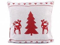 Vánoční povlak na polštář vločka 45x45 cm