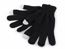 Pletené rukavice na mobil dotykové
