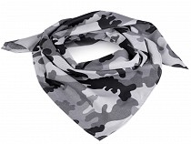 Camouflage Cotton Scarf 65x65 cm