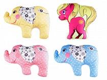 Dekorační polštář s výplní - kočka, pes, kůň, slon, auto, traktor