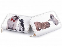 Női kutyamintás pénztárca 10x14 cm