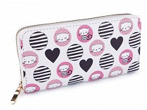 Dámská peněženka kočka 10x19 cm