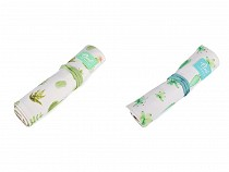 Canvas Roll up School Pencil Case Cactus Languo 20x28.5 cm