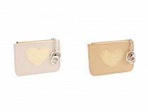 Peňaženka / kľúčenka s glitrovým srdcom 9x12 cm