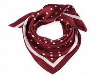 Foulard à pois avec bordure, 70 x 70 cm