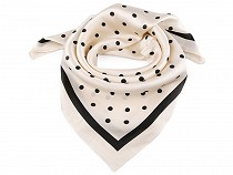 Scarf with Polka Dots and Rim 70x70 cm